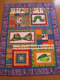 Tin Whistle: Drum role please.... Very hungry caterpillar quilt