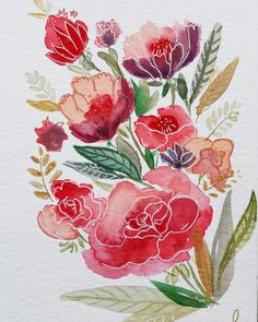 watercolor mixedmedia aquarell flowers Art Flowers, Flower Art, Watercolor, Stickers, Watercolors, Flowers, Pen And Wash, Art Floral, Watercolor Painting