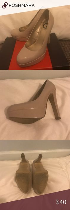 Sexy pumps  👠 Light Natural Pumps by Guess. 5 inch heel with one in platform. Only used once, very comfortable.. They do have a slight scuff mark on the inner side, which you could see on the last picture. G by Guess Shoes Platforms