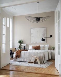 Walk in! 5 new apartment insights on SoLebIch - Walk in! 5 new insights into apartments on SoLebIch Photo: AViktoria # apartment insight - Dream Bedroom, Home Bedroom, Bedroom Decor, Bedroom Lighting, Bedroom Ideas, Modern Rustic Bedrooms, Bedroom Rustic, My New Room, Cheap Home Decor