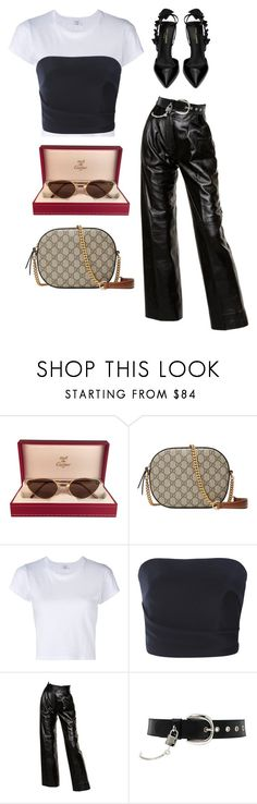 """""""Untitled #618"""" by mimiih ❤ liked on Polyvore featuring Cartier, Gucci, RE/DONE, Monique Lhuillier, Yves Saint Laurent and D&G"""