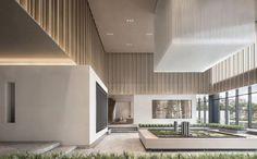 共向美学 X JLa设计 | 当代田园诗-建e室内设计网-设计案例 Showroom Interior Design, Interior Walls, Modern Interior Design, Luxury Interior, Sales Office, Lobby Design, Sales Center, Modern Architecture, Interior Decorating