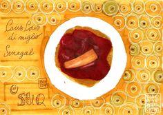 Suq - Festival delle Culture di Genova: cucina senegalese #senegal #cooking #cucina #food #cibo #drawing #disegno #illustrazione #illustration #suq #genova #couscous #letraset #promarkers