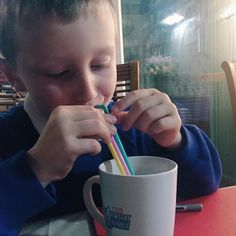 Milkshakes with three straws