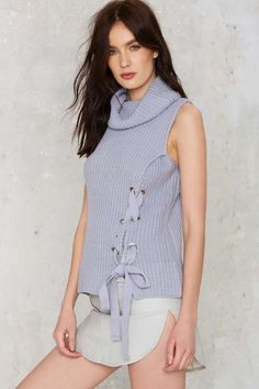 J.O.A. Good Tie Cowl Neck Ribbed Top - Sale: 50% Off | Tops | Sweaters