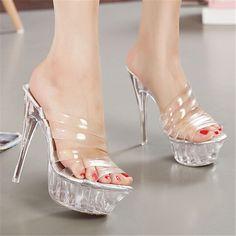 $25.00 (Buy here: https://alitems.com/g/1e8d114494ebda23ff8b16525dc3e8/?i=5&ulp=https%3A%2F%2Fwww.aliexpress.com%2Fitem%2FOUE-Size-34-43-2015-New-Summer-Women-Pumps-Thick-Heels-Platform-Cinderella-Shoes-Nude-Rockstud%2F32501028406.html ) 2016 Woman Shoes Sexy 14CM High Summer Princess Shoe Thick Heels Platform Shoes Nude talons hauts Heels Size 11 for just $25.00