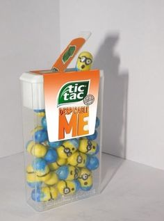 Despicable Me Minion Tic-Tacs! #inlove #ineedthese #now Ummm... Hello? A genius!