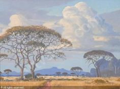 PIERNEEF Jacob Hendrik - A BUSHVELD PATHWAY African Paintings, Tree Paintings, South African Artists, Stone Mosaic, African History, Nature Animals, Pathways, Vintage Art, Cool Art