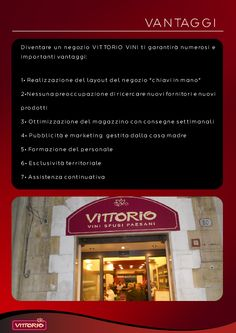 brochure per franchising di vini sfusi