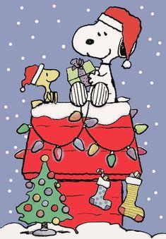 Peanuts Snoopy, Snoopy Feliz, Snoopy E Woodstock, Peanuts Cartoon, The Peanuts, Snoopy Love, Christmas Time Is Here, Christmas Art, Christmas Presents