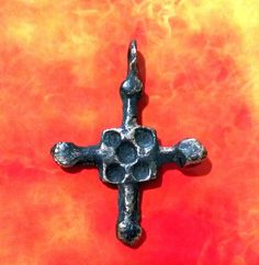 Ancient Viking Bronze Cross Pendant -Kievan Rus.