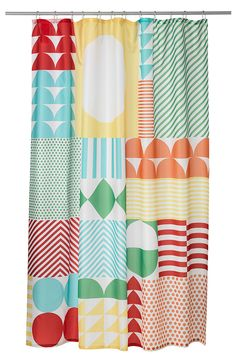 Get the essentials! Early mornings can be happy mornings with the colorful NIMMERN shower curtain.