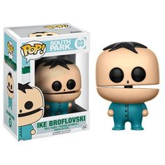 """This is the South Park POP Ike Broflovski Vinyl Figure. Ike looks great! Another great POP vinyl from Funko! Recommended Age: 15+ Condition: Brand New and Sealed Dimensions: 3.75"""" X 1 Funko South Park"""