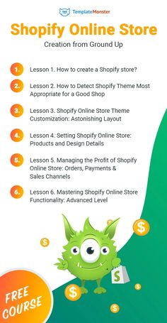 Shopify Online Store Creation from Ground Up [Free Course] Build Your Own Website, Facebook Store, Online Store Builder, Learning Courses, Best Templates, Modern Shop, Building A Website, Free Courses, Free Website