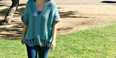 This Spring Breeze Poncho is a little shorter than your typical poncho, with an open and airy pattern. Since it's spring, I didn't want anything too heavy. Being in the desert, I won't be able to wear it too many more times before it's too hot. But we're heading to northern Az this summer, so …