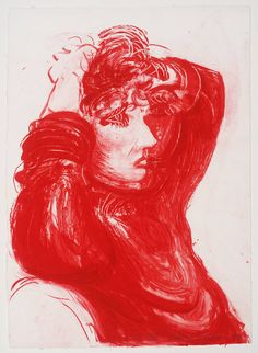 "Available for sale from Hamilton-Selway Fine Art, David Hockney, Red Celia, from ""Moving Focus"" series Lithograph on white handmade paper, 30 × 21 … David Hockney Tate, David Hockney Artwork, Pop Art Movement, English Artists, British Artists, Portraits, Artsy, Fine Art, Art Prints"