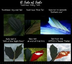 A Tale of Tails- Toothless' tails, that is!