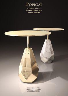 Popigai coffee table - Designer Monzer Hammoud - Pont des Arts Studio - Paris