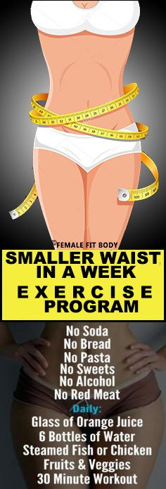 Get a Smaller Waist in a Week by Doing This Exercise Program (Video)