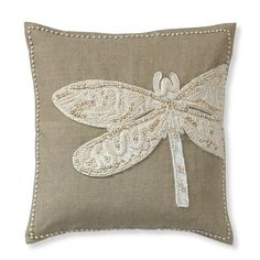 Williams Sonoma dragonfly pillow. I wonder if I could make my own?