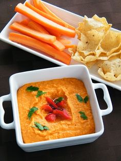 Red Pepper and Sundried Tomato Hummus.