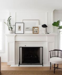 Sarah Richardson Design White Fireplace Mantels Mantle Art Traditional