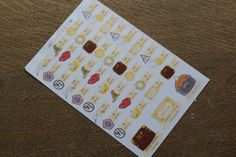 Harry Potter Countdown Life planner stickers by TheLibraryDesigns Harry Potter Planner, Mischief Managed, Life Planner, Planner Stickers, Bullet Journal, Erin Condren, Filofax, Unique Jewelry, Planners
