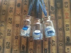 Set of 3 button jar christmas decorations by maxollieandme on Etsy