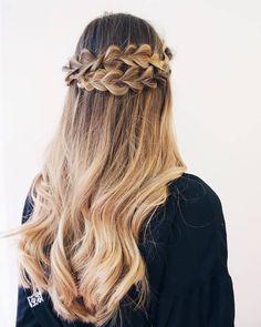 braided half up half down wedding hair ~  we ❤ this! moncheribridals.com