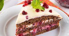 Брусничный торт «Рождество»