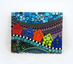 SALE Children's Room decor .. Houses and Street mosaic by JillsJoy