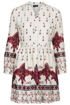 Topshop Morrocon Border Print Shirt Dress