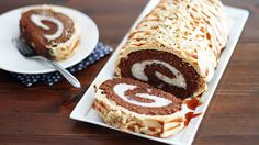 Caramel, banana, chocolate, peanut butter… you love it all, and it's all rolled up into this one delicious cake.