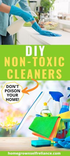Are you trying to live more naturally, more green? You should consider ditching those expensive, chemical-laden cleaners. Make your own non-toxic cleaners! Diy Glass Cleaner, Diy Bathroom Cleaner, Diy Floor Cleaner, Diy Carpet Cleaner, Cleaning Recipes, Diy Cleaning Products, Cleaning Hacks, How To Make Diy, Make Your Own