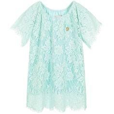 Angel's Face - Girls Green Lace Dress | Childrensalon