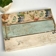 Small Wood Projects, Scrap Wood Projects, Woodworking Projects, Diy Projects, Rustic Crafts, Rustic Farmhouse Decor, Wood Crafts, Diy Crafts, Decoupage Furniture