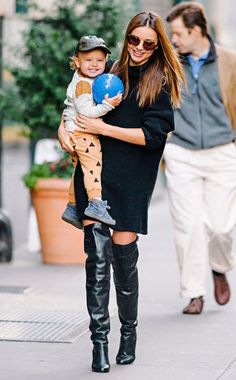 ok here's another. just because her kid is adorable and this is how most of my outfits look...a kid on one side