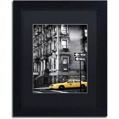 Trademark Fine Art nyc Yellow Cab Canvas Art by Philippe Hugonnard, Black Matte, Black Frame, Size: 11 x 14