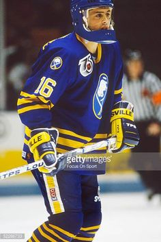 the-buffalo-sabres-captain-pat-lafontaine-skates-on-the-ice-during-a-picture-id52286733 (409×612) Goalie Mask, Buffalo Sabres, Hockey Players, Skates, Athletics, Helmets, Nhl, Reebok, Motorcycle Jacket