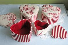 Trinket Box.  Set of Four Boxes with by AnythingDiscovered on Etsy
