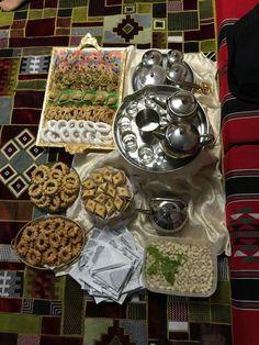 Libyan tea and dessert. Libyan Food, Tis The Season, Eid, Waffles, Good Food, Sweets, Arabic Art, Traditional, North Africa