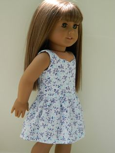 American Girl Doll Clothes   Floral Sundress and by 18Boutique, $18.00