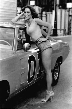 Catherine Bach as Daisy Duke, Dukes of Hazzard 1970s.  What more can you say about the good-ole-boys