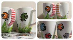 Sheep mugs. Sheep, Mugs, Tableware, Diy, Dinnerware, Bricolage, Tumblers, Tablewares, Do It Yourself