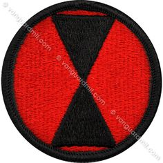 Army Patch: Seventh Infantry Division - color