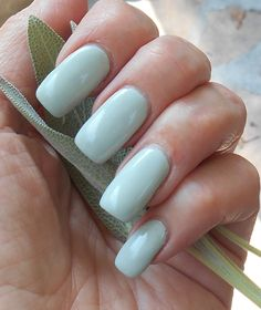 Sooth Sager - pale/pastel sage green creme polish with a hint of shimmer by PromisePolish on Etsy