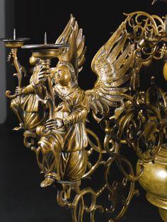 Magnificent Non Electric Chandelier Ancient Unique Antique