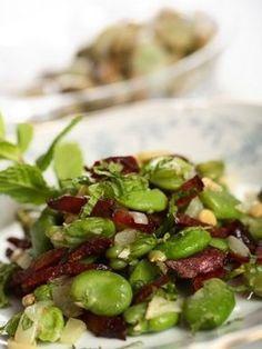 Sałatka z bobu Tempeh, Tofu, Greens Recipe, Food To Make, Catering, Good Food, Food And Drink, Healthy Recipes, Healthy Food