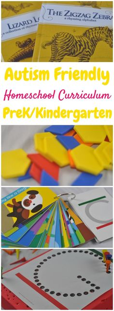 Homeschooling an autistic child can be intimidating, so here are our choices for autism-friendly homeschooling kindergarten curriculum!