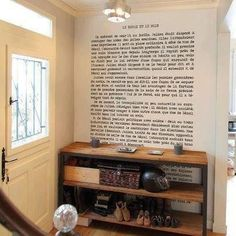 Walk by your favorite passage from your favorite book every day | 30 Totally Unique Ways To Decorate Your Home With Books
